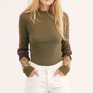 Free People Switch It Up Cuff Thermal Top